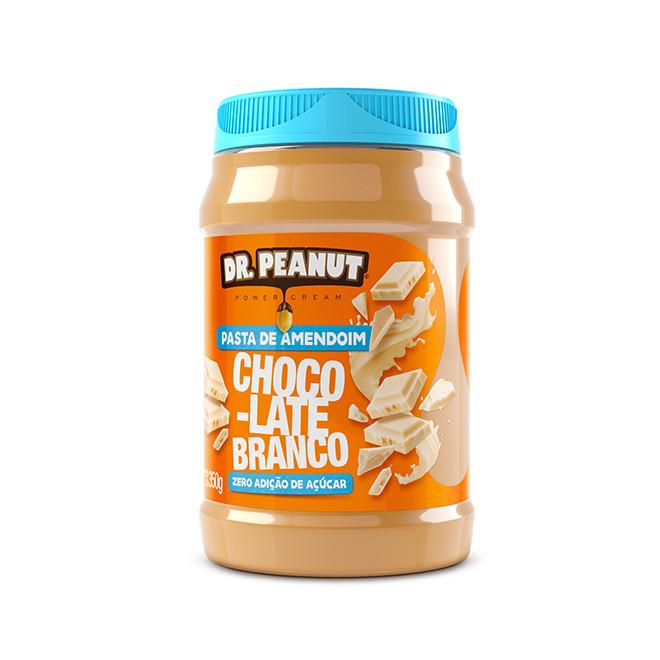 Pasta de Amendoim Chocolate Branco (350g) - Dr Peanut
