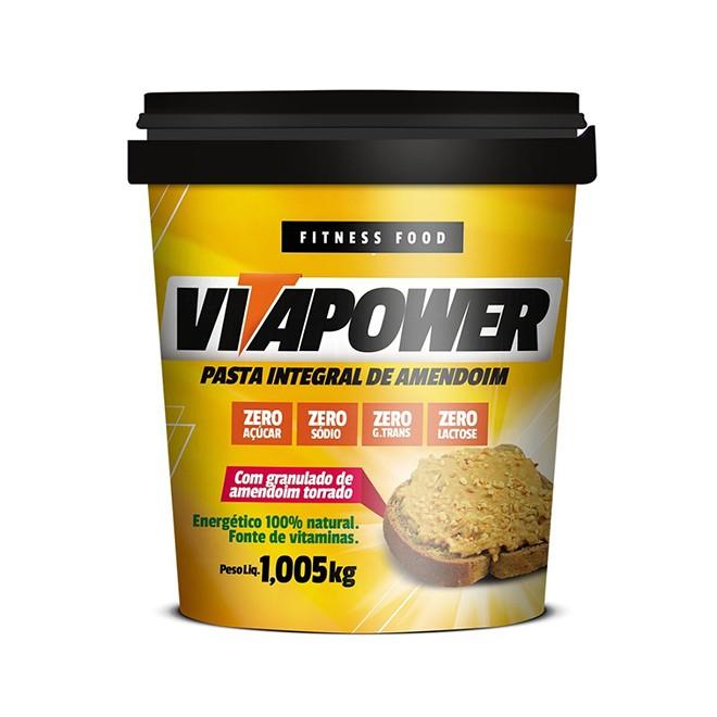 Pasta de Amendoim Integral Crocante 1,005kg - Vitapower