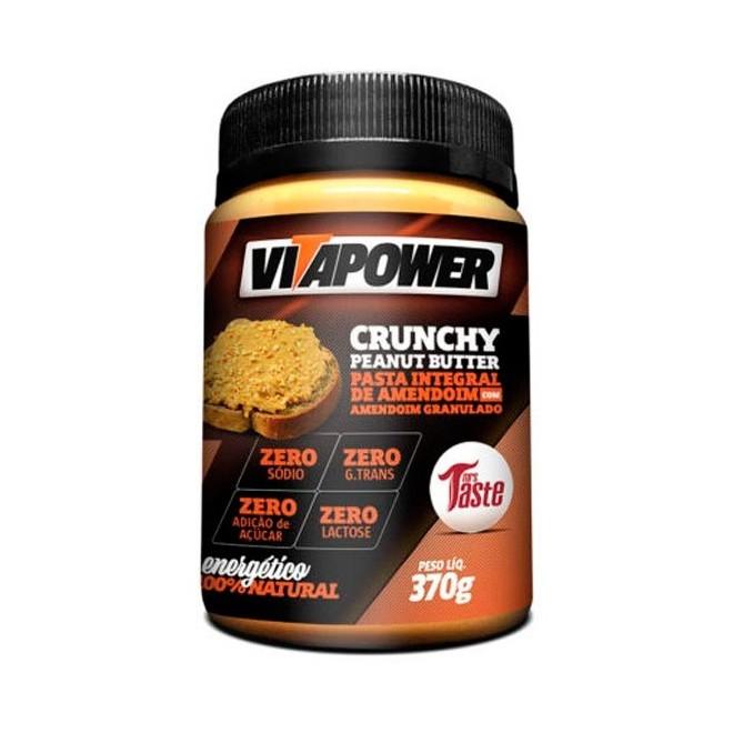 Pasta de Amendoim Integral Mel 370g - Vitapower