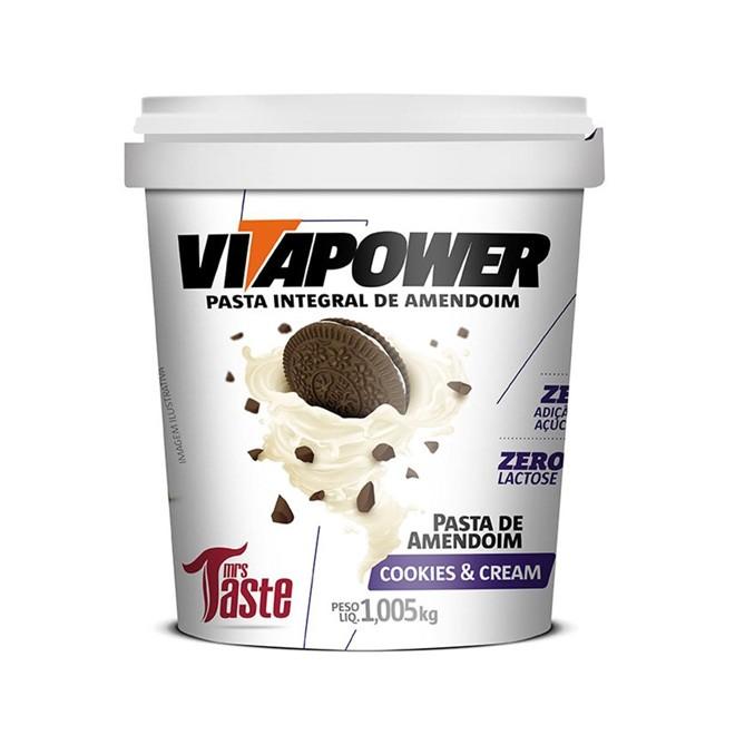 Pasta de Amendoim Cookies & Cream (1,005kg) - Vitapower