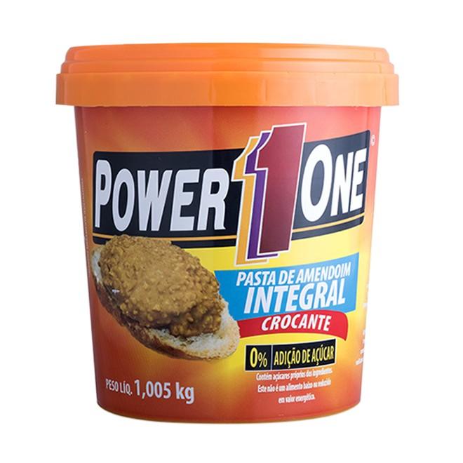 Pasta de Amendoim Integral Crocante - 1kg - Power1One