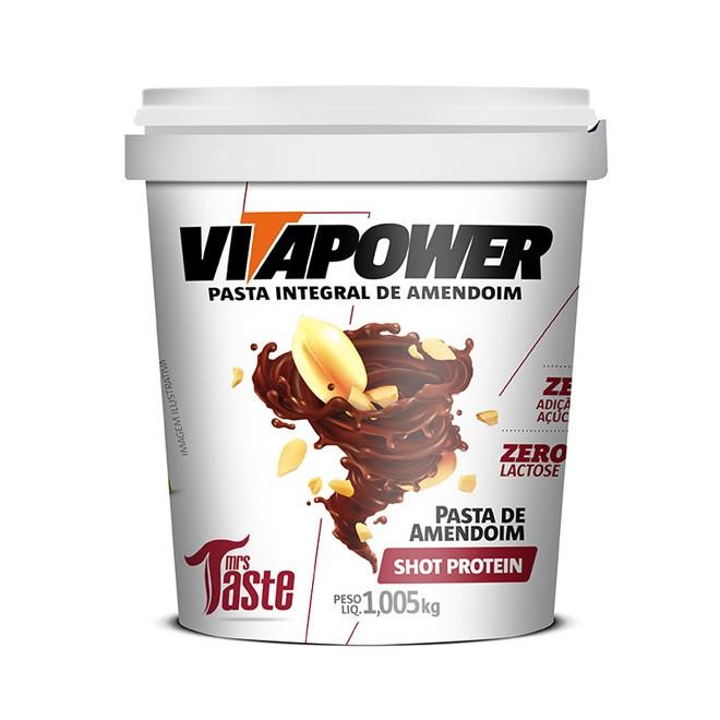 Pasta de Amendoim Shot Protein (1,005kg) - Vitapower