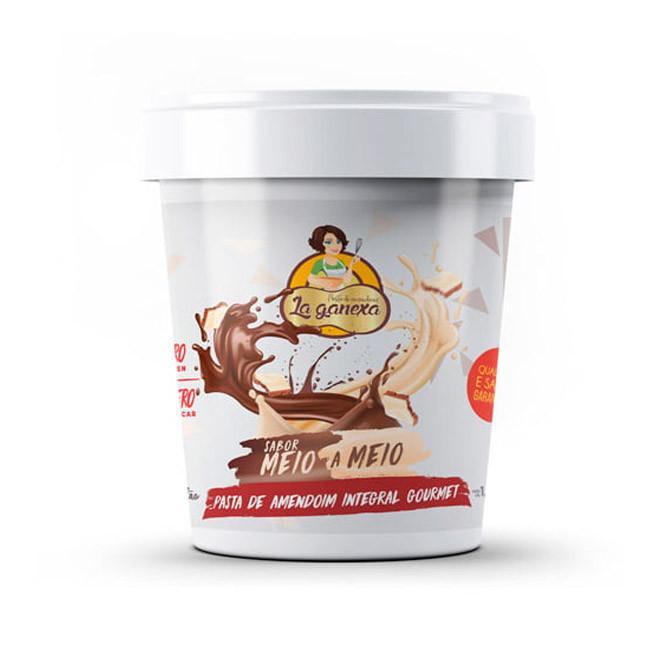 Pasta de Amendoim Integral Meio a Meio 450g - La Ganexa