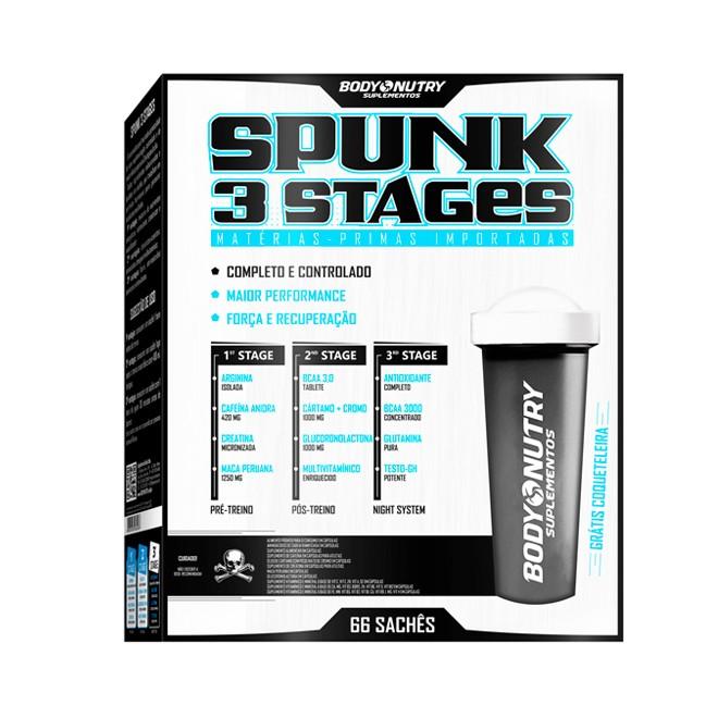 Spunk 3 Stages 66 Sachês - Body Nutry (Coqueteleira Grátis)