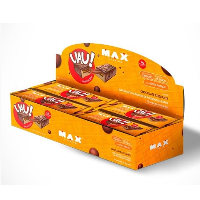 Uau Protein Bar Caixa c/ 12und (45g cada) - Max Titanium