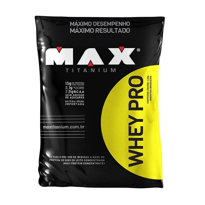 Whey Pro 1,5kg Refil - Max Titanium