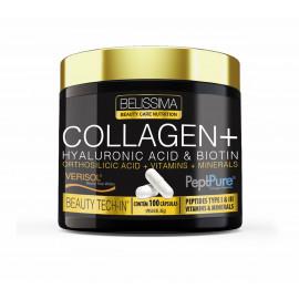 Collagen + Hyaluronic Acid & Biotin (100 Caps) Belíssima - Black Skull