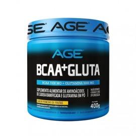 BCAA + Glutamina (400g) Morango - AGE