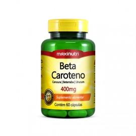 Beta Caroteno 400mg 60 Cápsulas - Maxinutri