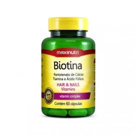 Biotina 60 Cápsulas - Maxinutri