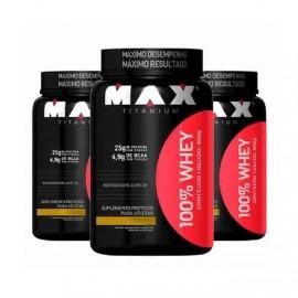Combo 3 Potes 100% Whey (900g) - Max Titanium