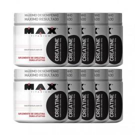 Combo 10x Creatina 300g - Max Titanium