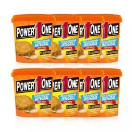 Combo 08 Und Pasta de Amendoim Crocante (1kg cada) Power 1One