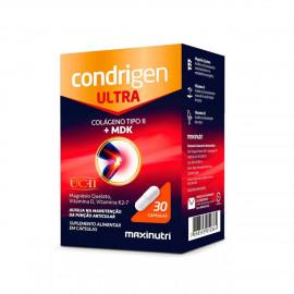 Condrigen Ultra Colágeno Não Hidrolisado Tipo II + MDK 30 Cápsulas - Maxinutri