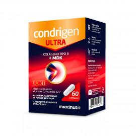 Condrigen Ultra Colágeno Não Hidrolisado Tipo II + MDK 60 Cápsulas - Maxinutri