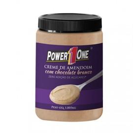 Creme de Amendoim c/ Chocolate Branco 1,005kg - Power 1One