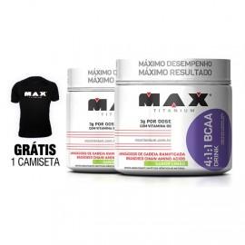 2 x BCAA Drink 280g - Max Titanium + Camiseta Grátis