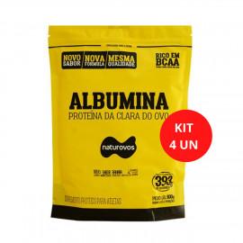 Kit 4 Albuminas - Naturovos (Com Sabor)