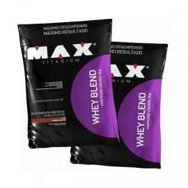 Combo 2x Whey Blend (2kg cada) - Max Titanium