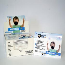 Máscara Protect Care Infantil Preta