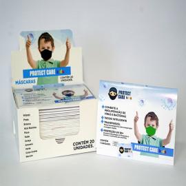 Máscara Protect Care Infantil Verde