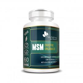 MSM Enxofre Orgânico 500mg (60 Cápsulas) - Flora Nativa