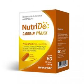 NutriDê Maxx 2.000 UI 60 Cápsulas - Maxinutri