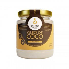 Óleo de Coco Extravirgem Extraído da Película do Coco (200ml) - Santo Óleo