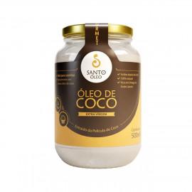 Óleo de Coco Extravirgem Extraído da Película do Coco (500ml) - Santo Óleo