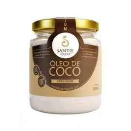 Óleo de Coco Extravirgem Extraído da Polpa do Coco (200ml) - Santo Óleo
