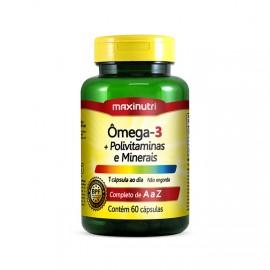 Ômega 3 + Polivitaminas e Minerais 60 Cápsulas - Maxinutri