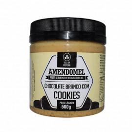 Pasta de Amendoim Chocolate Branco c/ Cookies 500g - AmendoMel
