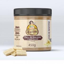 Pasta de Amendoim Gourmet 1.005kg Chocolate Branco  - La Ganexa