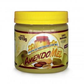 Pasta de Amendoim Integral c/ Mel 1,010g - Amendomel