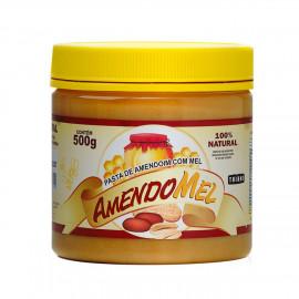 Pasta de Amendoim Integral c/ Mel 500g - Amendomel