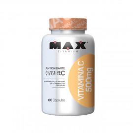 Vitamina C 500mg (60 Caps) - Max Titanium